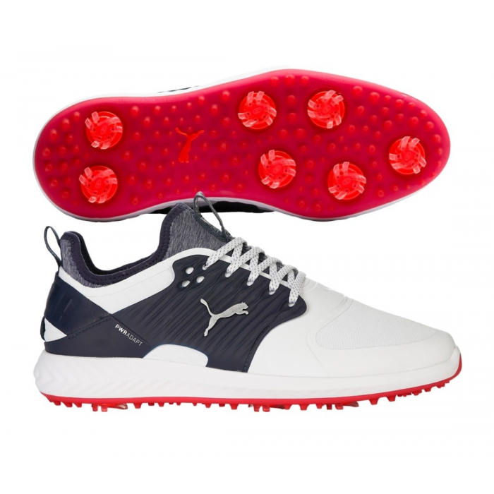 Puma Ignite PWRADAPT Caged White Golf Shoes